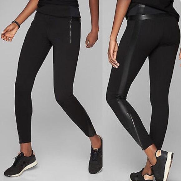 851bcc7a6d117b Athleta Pants | Luxe Ponte Legging Faux Leather | Poshmark